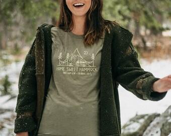 Home Sweet Hammock T-Shirt - David Rollyn, Camping, Van Life