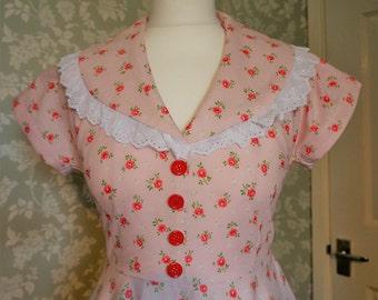 Floral handmade 50s circle dress