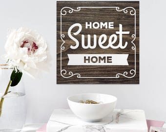 Home sweet home sign, cabin painted wooden sign, cottage sign, exterior wall art, outdoor signs, cottage owner gifts, gifts for friends