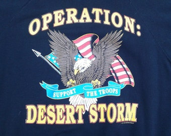 Vintage 1991 Operation: Desert Storm crew-neck sweatshirt Made in USA XL