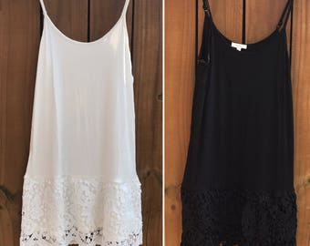 Lace trimmed cami dress extender