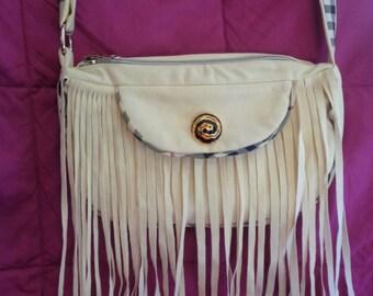 JENNY Shoulder bag in Alcantara