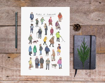 People of Yorkshire Art Print