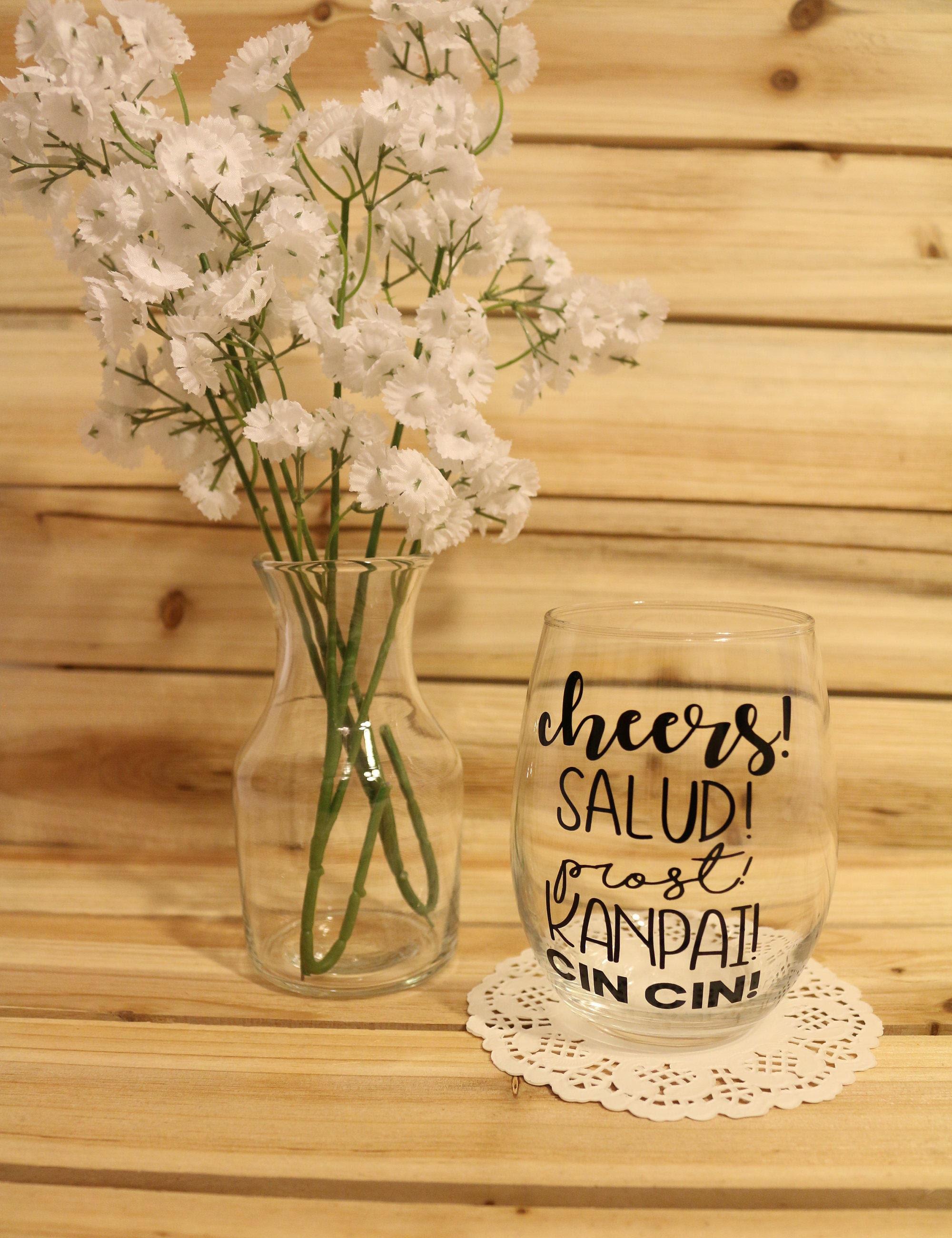 Cheers Salud Cheers Wine Glass Cheers Wine Glasses Cheers