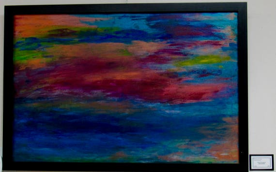 """Large Framed Abstract Painting """"Lost In Awe"""""""