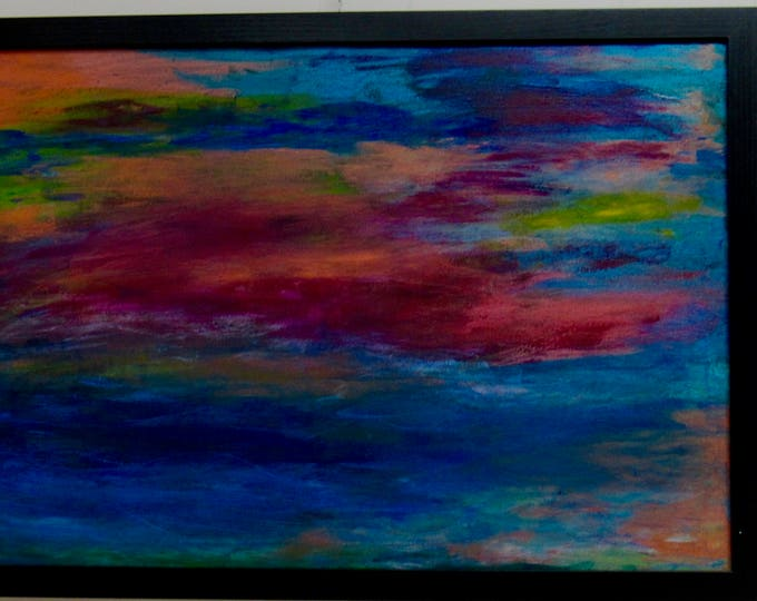 "Large Framed Abstract Painting ""Lost In Awe"""