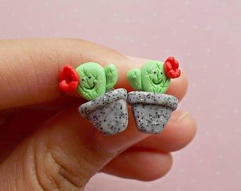 Cactus earrings - Cacti earrings - Cactus studs - Cactus stud earrings - Cactus jewellery - Cacti jewelry - Plant earrings - Easter Basket