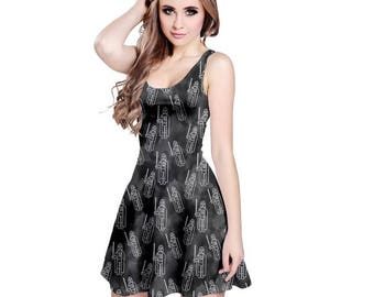 Vader Dress - Star Wars Dress Skater Dress Cosplay Dress Darth Vader Dress Sci-Fi Dress Sith Dress Imperial Dress Derpy Dress Dark Side