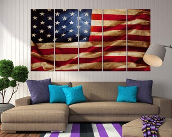 American flag canvas Etsy
