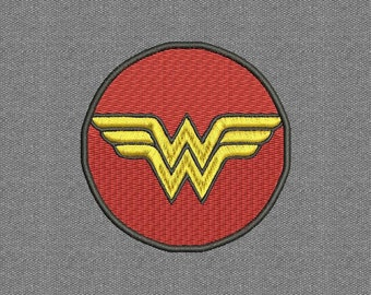 Wonder Woman Emblem X3 sizes Machine Embroidery