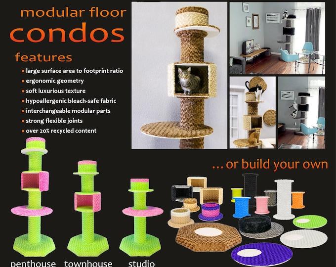 Modular Floor Condos - The best cat towers ever!