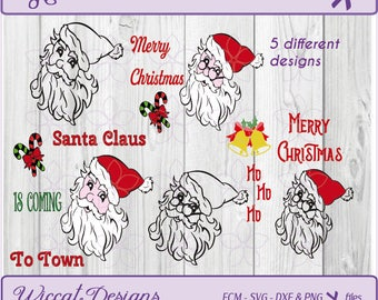 Santa claus svg, Santa svg, Christmas svg, Merry christmas svg, christmas wishes svg, dxf cut file, scanncut, fcm file, svg for cricut