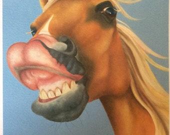 "palomino horse pony painting ""Hot as MUstard"""