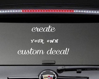 Custom Window Decals Etsy - Custom window clings for cars