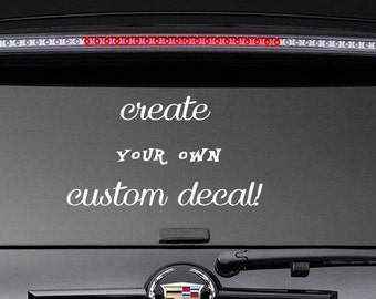 Custom Window Decals Etsy - Custom window decals for vehicles