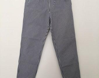 Checkered pants / vintage pants / banana pants / high waisted pants / summer pants / cotton pants / 90s pants / 90s clothing