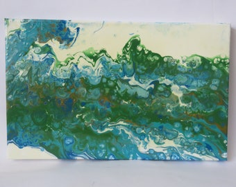 original Abstract fluid painting,Acrylic on canvas