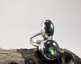Labradorite double ring