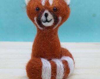 Red Panda, Felted Red Panda, Needle felt Red Panda, Felt Red Panda, Little Red Panda, Cute Red Panda, Christmas present, Birthday present,