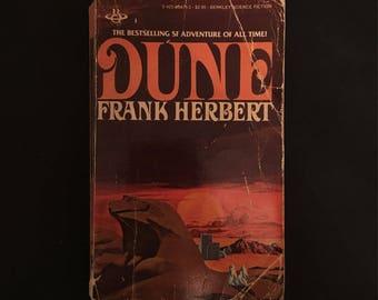 Dune by Frank Herbert, 1977: Book 1 through 3. Vintage Paperback.