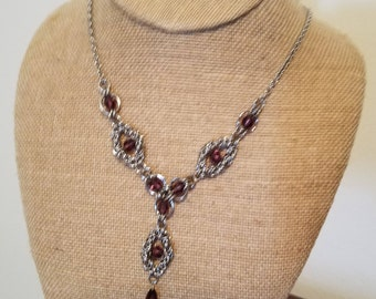 Purple Byzantine Necklace