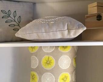 Lemon slice EnchDK pattern pillow