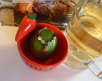 """Daniellas Delights Stag Party/BBQ/Festival Drinks Decoration Chilli Charm for Beer Bottle, Tankard -""""Spicy, Hot Hot, Hot Lips, Windy"""""""