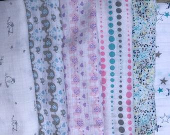 Cotton Double Gauze Print Swaddle Blanket