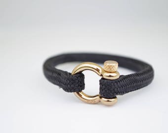 SINGLE BLACK & gold | Sailing bracelet - Custom and Handmade