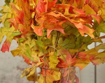Preserved Harvest Oak Leaves | Autumn Oak Leaves | Preserved Leaves | Dried Leaves | Dried Decor