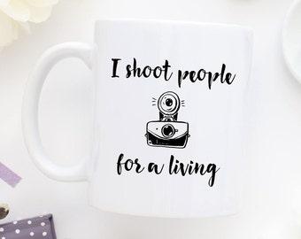 Camera Coffee Mug, Oh Snap, Camera Mug, Photographer Mug, Funny Photographer, I Shoot People Mug,Photography Mug,I Shoot People For A Living