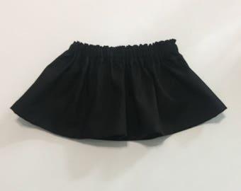 Baby Skirt, Girl Skirt, Toddler Skirt, Girl clothes, Black baby skirt