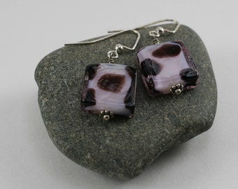 Hand crafted glass bead earrings