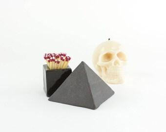 Match Striker, Fireplace Mantel, Ceramic Match Strike, Pyramid Lighter, Homeware, Decorative Match, Fireplace Decor, Home Office Desk