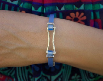 925 silver bracelet and rubber strap.