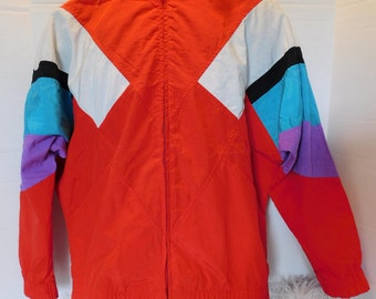 TAIL BRAND Vintage Colorblock Windbreaker Track Jacket Size Small