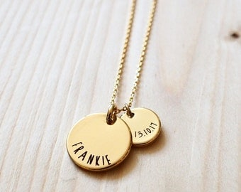 Personalised Name and Date Necklace