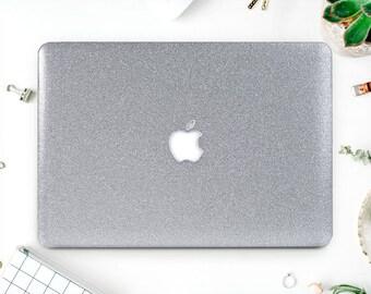 Glitter Macbook Pro 2016 Macbook 2017 Case Silver Laptop Case Macbook Case Macbook Air Glitter Macbook Air 13 Macbook Pro 2016 AMM2066