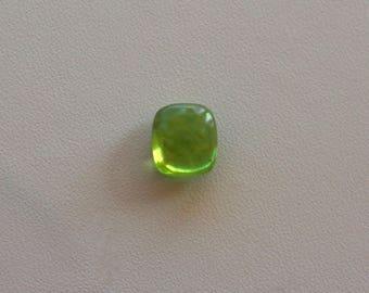 Green Peridot cushion cabochon loose stone for ring Natural olive green Peridot cabochon August Birthstone