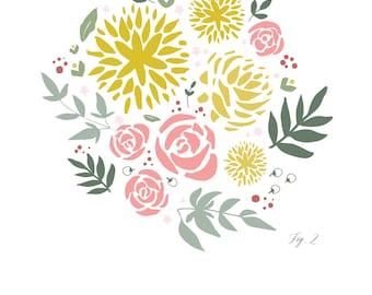 Floral Bouquet Print -- Figure 2
