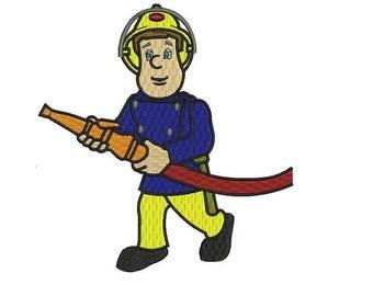 Fireman Sam Machine Embroidery Design - 4,5,6 inch size instant download