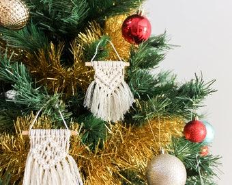 1 X Macrame Christmas Ornaments Handmade / Secret Santa