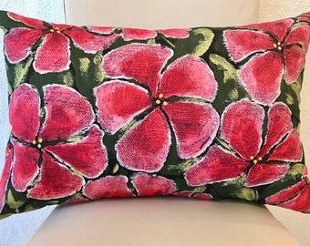 "Fine Art Printed Pillow ""Field of Flowers"""