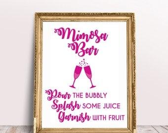 Mimosa Bar Sign, Rustic Mimosa Bar, Mimosa Bar Print, Mimosa Bar Printable, SVG, Cut File, Cuttable, Wall Art, Print, Vector, Silhouette