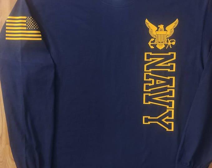 Navy - Navy Shirt - Mens Navy Shirt - Womens Navy Shirt - Navy Veteran - Navy Wife - Unisex Shirt - Navy Mom - Navy Family - US Navy Shirt