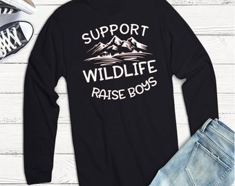 Boy Svg, Mom Life Svg, Mom of Boys Svg, Support Wildlife Raise Boys Svg,Dxf,Png,Jpeg