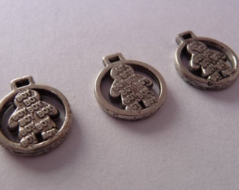 Set of 3 charms round boy