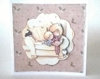 Snuggle up Christmas Card