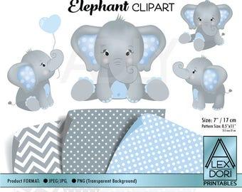 Baby elephant clip | Etsy