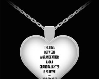 TO MY GRANDDAUGHTER! Amazing Silver Plated Necklace